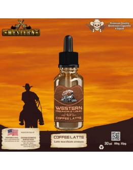Western Premium - Coffee Latte Elektronik Sigara Likiti (30 ml)